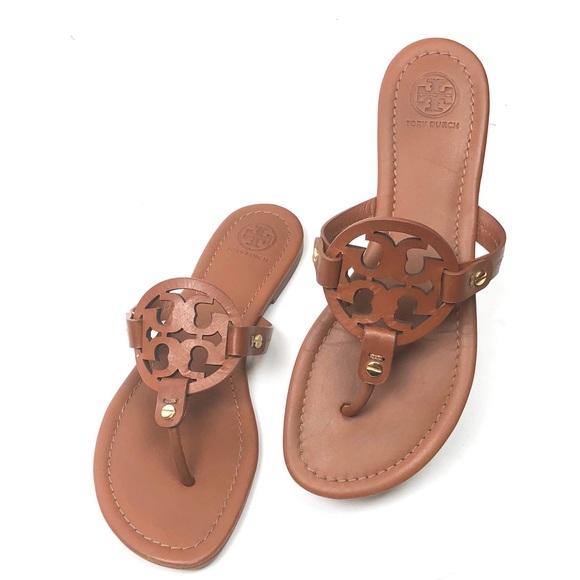 02142e271 ... Miller Flat Leather Logo Slide Sandal. M 5b00d36f331627bd2ee7ed79